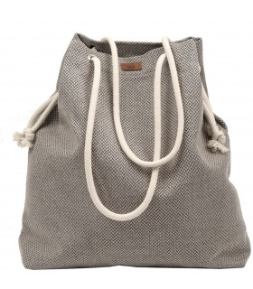 SACK BAG ME 15 FABRIC beige gray