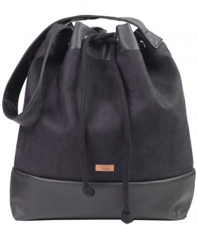 Basic me 16 sack black eco suede