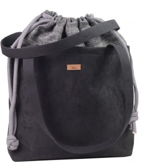 "SACK BAG ""DUOBAG"" eco suede black-ash"