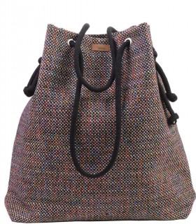 Basic me 15 fabric handbag burgundy