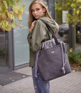 "Basic me 19 ""Duo"" fabric bag ash-gray"