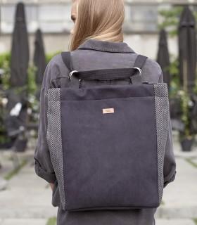 Backpack me24 eco suede black