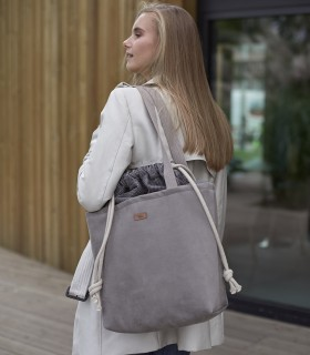 "SACK BAG ""DUOBAG"" eco suede taupe"