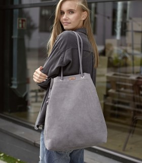 SACK BAG ME 15 eco suede gray