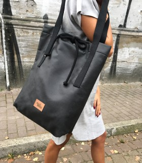Torebka basic weekend bag eko-skóra- czarna