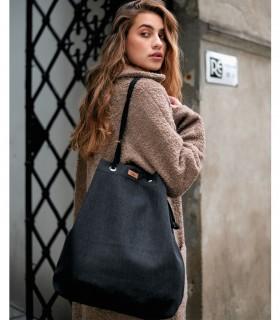 Basic me 15 fabric handbag - black