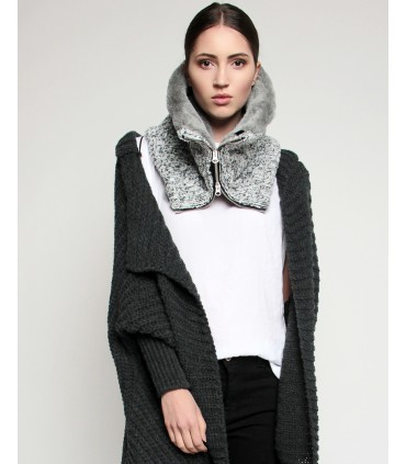 snood gray melange