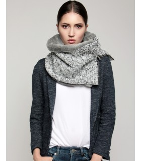 snood gray melange