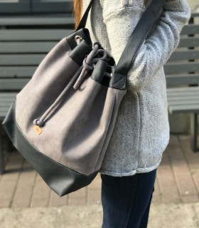 Basic me 16 sack gray eco suede