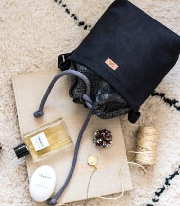 """Mała torebka """"DUO MINI"""" przez ramię, kolor czarny"""