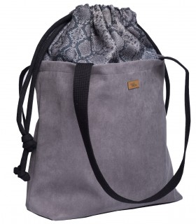"Basic me 19 ""Duo"" python - eco suede grey"