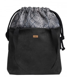 "Basic me 19 ""Duo"" python - eco suede black"