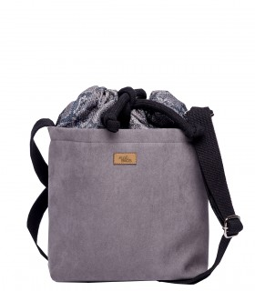 "Basic me 22 ""Duo mini"" eco suede gray snakeskin pattern"