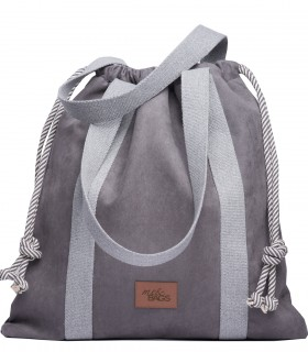 LARGE BAGGY BAG ECO-SUEDE GRAY