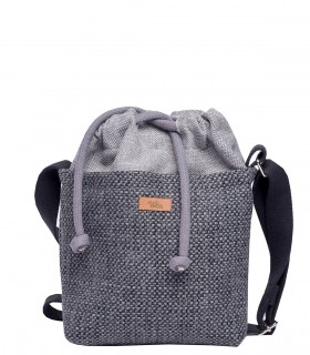 "Basic me 22 ""Duo mini"" fabric bag gray"