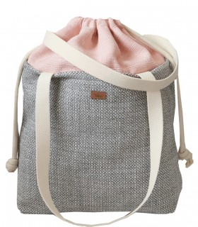 "SACK BAG ""DUO BAG""  fabric  gray-pink"