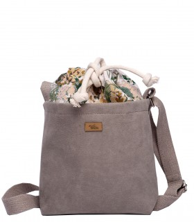 "CROSSBODY SMALL BAG ""DUO MINI"" eco suede bloom"