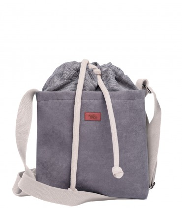 "CROSSBODY SMALL BAG ""DUO MINI""eco suede gray"