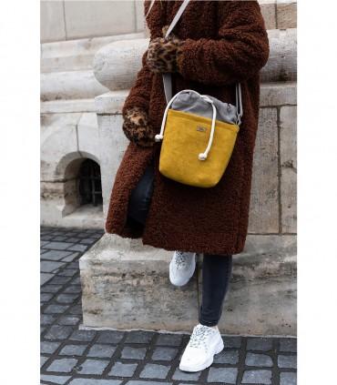 """Mała torebka """"DUO MINI"""" przez ramię, kolor żółty"""