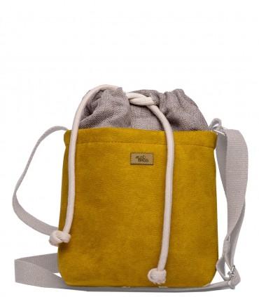 "CROSSBODY SMALL BAG ""DUO MINI"" eco suede yellow"