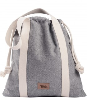 LARGE BAGGY BAG eco fabric grey
