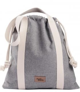 LARGE BAGGY BAG eco fabric grey