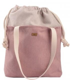 """SACK BAG """"DUO BAG"""" fabric pink"""