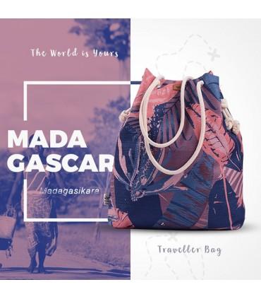 "Materiałowa torebka worek ""ME 15"" Madagaskar"