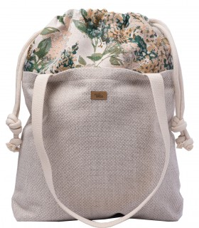 "SACK BAG ""DUO BAG"" FABRIC CREAM BLOOM"
