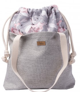 "SACK BAG ""DUOBAG"" fabric light grey PARIS"