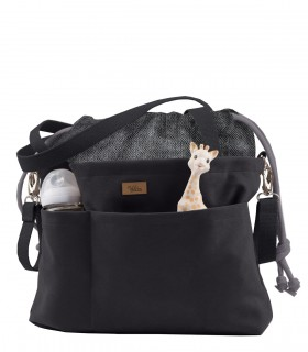 "MOM BAG ""ME&BABY"" ECO SUEDE BLACK"