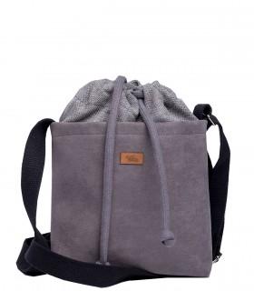 "CROSSBODY SMALL BAG ""DUO MINI"" eco suede gray"