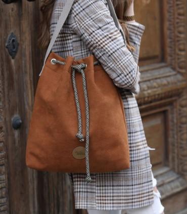 Bucket Bag eco suede CARAMEL