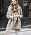 woolen scarf gray melange
