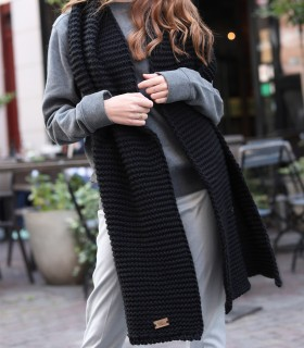 copy of woolen scarf gray melange