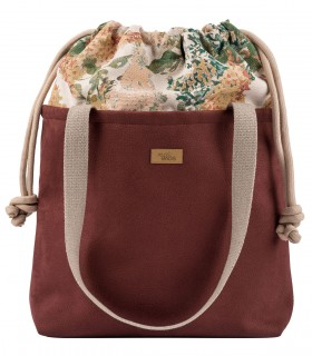"SACK BAG ""DUOBAG"" eco suede burgundy bloom"