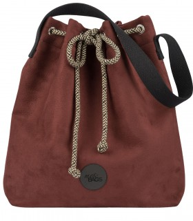 Bucket Bag eco suede BURGUNDY