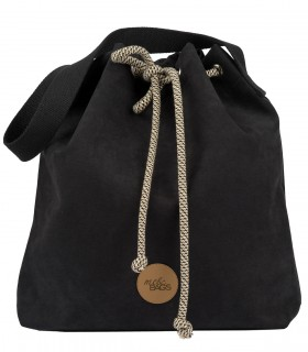 Basic me 16 Bucket Bag eco suede black