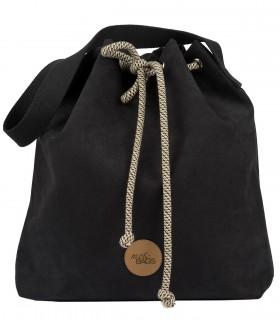 Basic me 16 Bucket Bag eco suede black