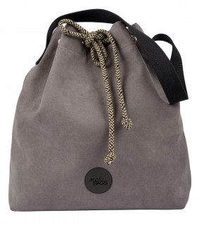 Bucket Bag eco suede grey