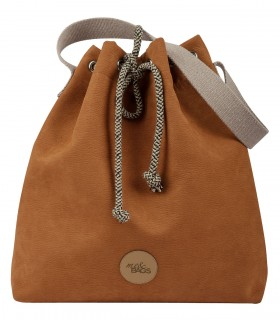 Basic me 16 Bucket Bag eco suede CARAMEL