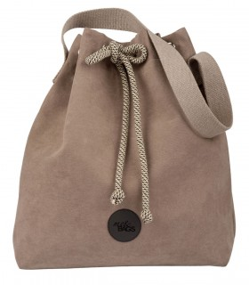 Bucket Bag eco suede taupe