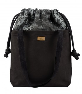 "SACK BAG ""DUOBAG""  eco suede black bloom"