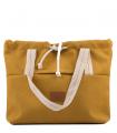 SHOPPER BAG BAGGERKA ECO-SUEDE YELLOW