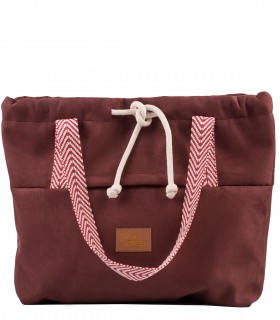 SHOPPER BAG BAGGERKA ECO-SUEDE burgundy