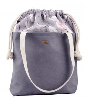 "SACK BAG ""DUO BAG"" eco suede grey PARIS"