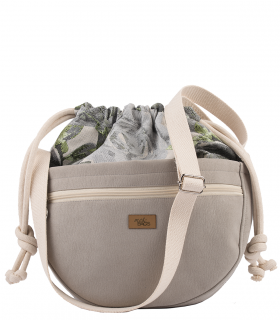 CROSSBODY BAGS ECO SUEDE GRAY ROSES
