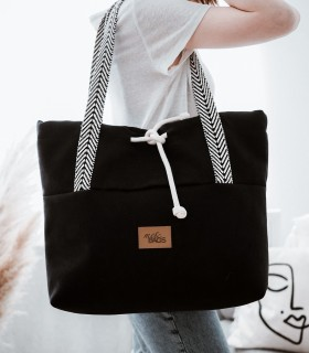 SHOPPER BAG  BAGGERKA ECO-SUEDE BLACK