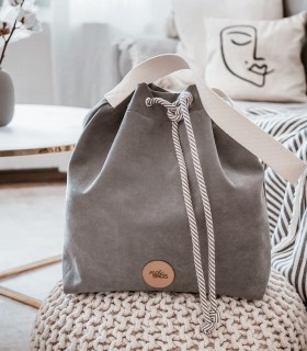 copy of Basic me 16 Bucket Bag eco suede grey