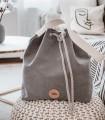 Bucket Bag eco suede grey